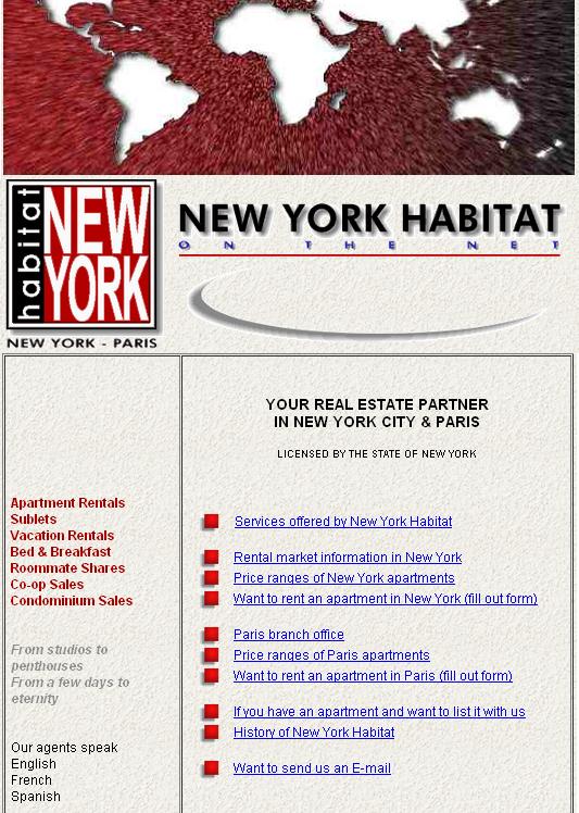 Сайт Nyhabitat у 1997 році