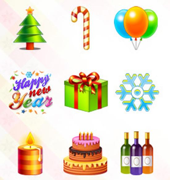 Новорічні та різдвяні іконки