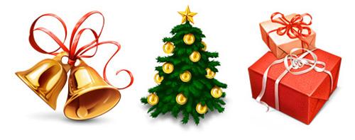 Іконки новорічно-різдвяних символів