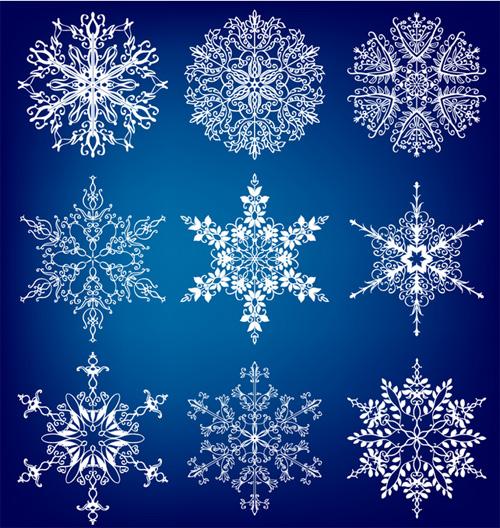 Різдвяна векторна графіка у сніжинках