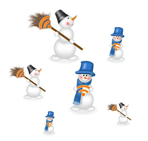 Новорічні RSS-сніговики