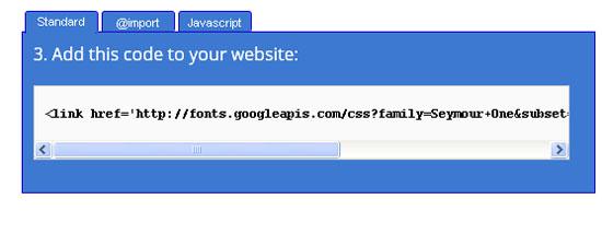 Стандартний метод встановлення шрифту