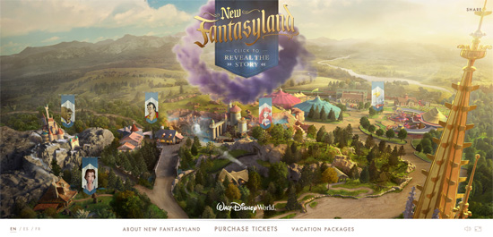 Flash-веб-сайт мультфільму компанії Disney