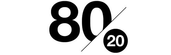 80% навчання на 20% продаж