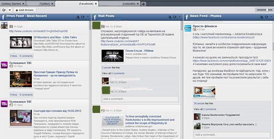 Панель соціальних медіа Hootsuite